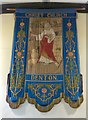 SJ9295 : Christ Church banner by Gerald England