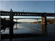 NZ2463 : King Edward VII and New Redheugh bridges by Anthony Foster