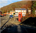 ST2293 : Doomed red phonebox on a Cwmcarn corner by Jaggery