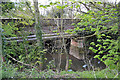 SP3576 : Willenhall Bridge and pipes cross the River Sowe, Willenhall, southeast Coventry by Robin Stott