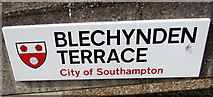 SU4112 : Blechynden Terrace name sign, Southampton by Jaggery