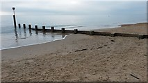 SZ1090 : Groyne on Bournemouth Beach by David Martin