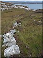 NG1086 : Stone and turf dyke above Leac an Duilisg, Harris by Claire Pegrum
