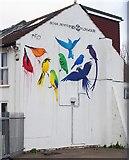 TQ2804 : Bird murals, Hove by Julian Osley