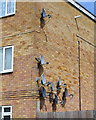 SP3576 : Satellite dishes, Southport Close, Willenhall, southeast Coventry by Robin Stott