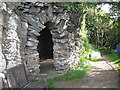 SS6949 : Jenny's Cove grotto 3 - Lee Abbey, North Devon by Martin Richard Phelan