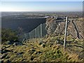 SK4513 : Fence at the summit of Bardon Hill by Mat Fascione