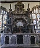 SK9227 : Cholmeley Monument, Ss Andrew & Mary church, Stoke Rochford by J.Hannan-Briggs