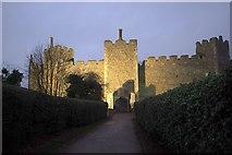 TM2863 : Framlingham Castle, New Year's Eve by Derek Harper
