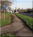 ST3086 : National Cycle Route 4, Docks Way, Newport by Jaggery