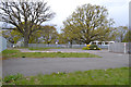 SP3576 : Car park and turning circle for two schools, Whitley, southeast Coventry by Robin Stott