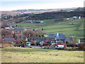 SE0235 : Fields and Houses near Oxenhope by Des Blenkinsopp