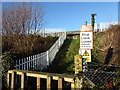 TQ5469 : Foot crossing over the railway near Homefield Farm by Marathon