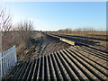 TQ5469 : View from a railway foot crossing by Marathon