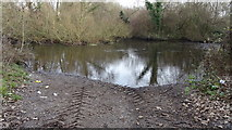 TQ0481 : Ford Lane meets the River Colne by Rob Emms