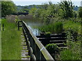 SK8336 : Weir and derelict lock on the Grantham Canal by Mat Fascione