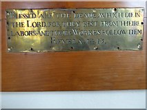 TL7006 : Chelmsford Cathedral: memorial (28) by Basher Eyre
