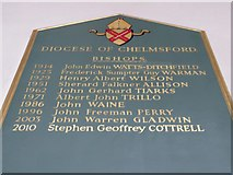 TL7006 : Chelmsford Cathedral: incumbency board (1) by Basher Eyre