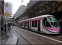 SP0686 : Tram arrives at Birmingham New Street Station by Roger Cornfoot