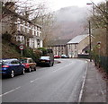 ST2195 : Start of the 30 zone, High Street, Abercarn by Jaggery