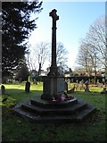 TQ2255 : St Peter, Walton-on-the Hill: war memorial (outside) by Basher Eyre