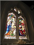 TQ2255 : St Peter, Walton-on-the Hill: stained glass window (IV) by Basher Eyre