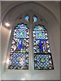 TQ2255 : St Peter, Walton-on-the Hill: stained glass window (VII) by Basher Eyre