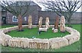 NU1734 : Life-sized carved wooden Christmas crib scene by Russel Wills