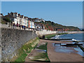 SX9677 : Dawlish sea wall with new raised section by Stephen Craven