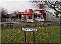 SO9669 : Stoke Road side of KFC, Bromsgrove by Jaggery