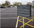 SO9669 : Safety notice in Brook Retail Park car park, Bromsgrove by Jaggery