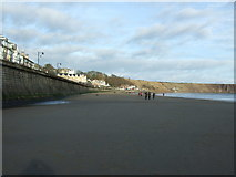TA1280 : Filey Sands and sea wall by JThomas