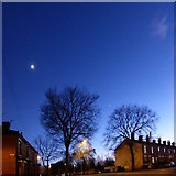 SJ9594 : Moon and Venus over Dowson Road by Gerald England