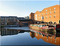 SJ9398 : Old and new at Portland Basin by Gerald England