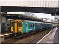 ST3088 : A train for Ebbw Vale on platform 4 at Newport Station by Robin Drayton