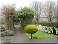 SK9365 : Pergola, North Hykeham cemetery by Jonathan Thacker