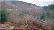 NH4660 : Dingwall to Garve railway line east of Raven Rock by Julian Paren