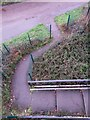SZ1294 : Holdenhurst: looking down on the start of footpath K49 by Chris Downer