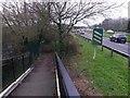 SZ1294 : Holdenhurst: footbridge ramp approaching Riverside Avenue by Chris Downer