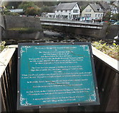 SS7249 : Lynmouth Flood 50th anniversary plaque by Jaggery