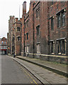 TL4458 : New masonry at Queens' College by John Sutton