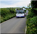 SS0998 : Withybush Hospital bus in rural Pembrokeshire by Jaggery