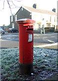 SD7228 : George VI postbox on Blackburn Road, Oswaldtwistle by JThomas