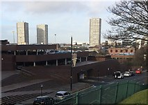NZ3956 : Sunderland (Fawcett Street) railway station (site), Tyne & Wear by Nigel Thompson