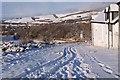 NT2439 : A snowy John Buchan Way, Tantah by Jim Barton