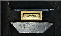 J3373 : Brass letter box, Belfast (January 2017) by Albert Bridge