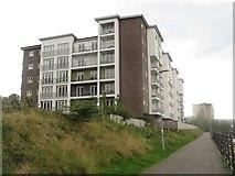 NZ2462 : Apartment block, Gateshead riverside by Graham Robson
