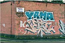 J3573 : Substation graffiti, Belfast (January 2017) by Albert Bridge