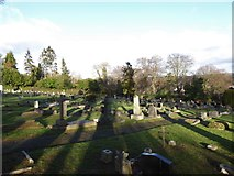 TQ3355 : Caterham Cemetery: early January 2017 (l) by Basher Eyre