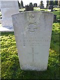 TQ3355 : Caterham Cemetery: CWGC grave (xix) by Basher Eyre
